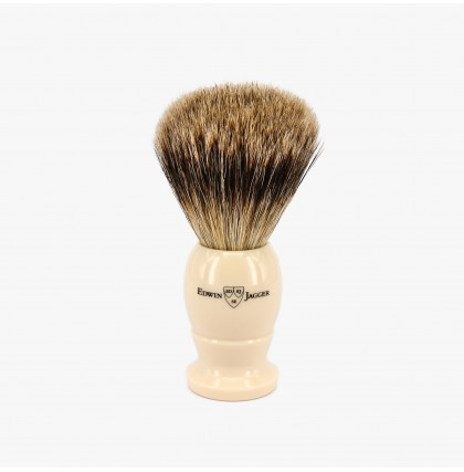 Edwin Jagger Large Best Badger Shaving Brush with Ivory Handle