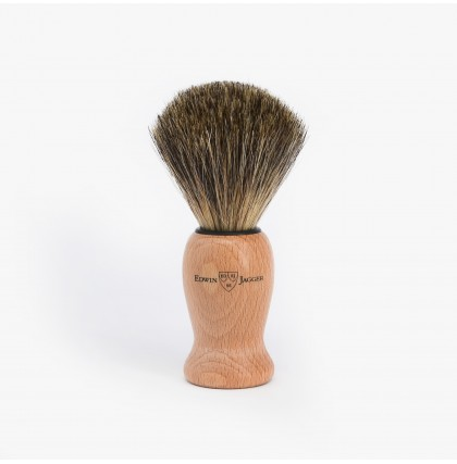 Edwin Jagger Pure Badger Shaving Brush with Beech Wood Handle