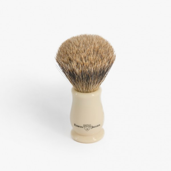 Edwin Jagger Chatsworth Best Badger Shaving Brush with Imitation Ivory Handle