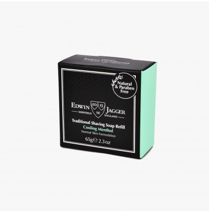 Edwin Jagger Cooling Menthol Shaving Soap Refill (65g)