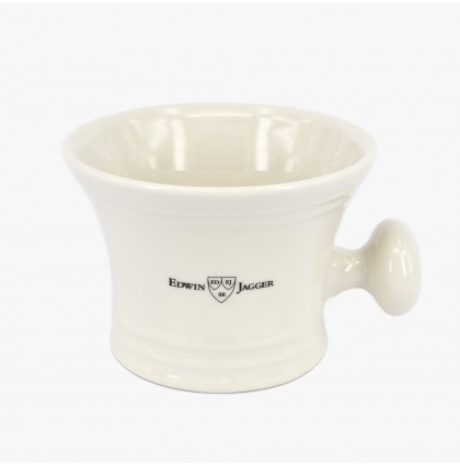 Edwin Jagger Ivory Porcelain Soap Bowl with Handle