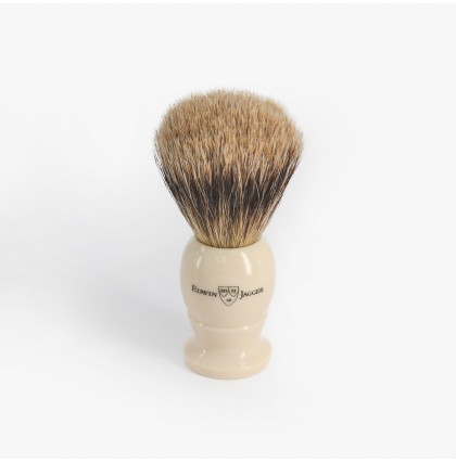 Edwin Jagger Medium Best Badger Shaving Brush with Imitation Ivory Handle