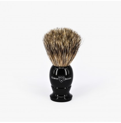 Edwin Jagger Small Best Badger Shaving Brush with Ebony Handle