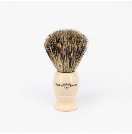 Edwin Jagger Small Best Badger Shaving Brush with Imitation Ivory Handle
