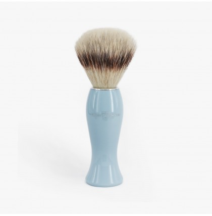 Edwin Jagger Synthetic Fibre Shaving Brush With Blue Handle
