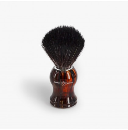 Edwin Jagger Synthetic Fibre Shaving Brush with Tortoise Shell Handle