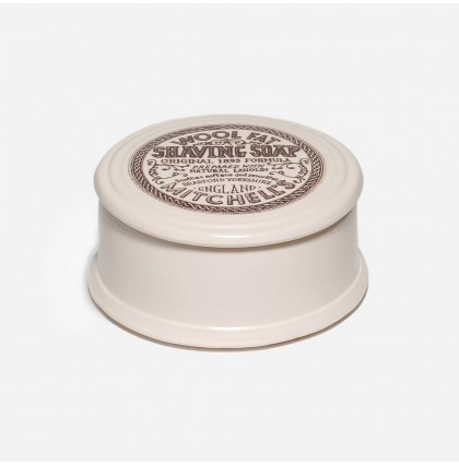 Mitchell's Wool Fat Shaving Soap with Ceramic Bowl