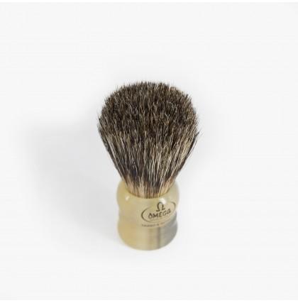 """Omega 11047 """"Mighty Midget"""" Bristle & Badger Shaving Brush"""