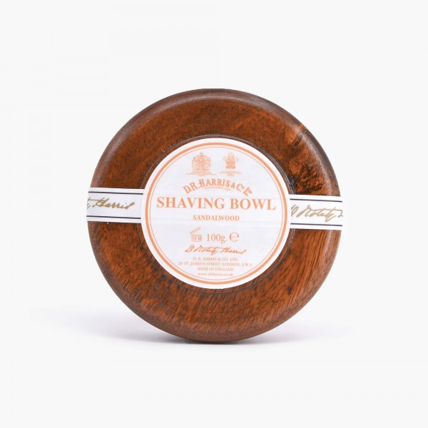 DR Harris Sandalwood Shaving Soap with Mahogany Bowl