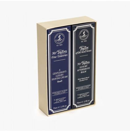 Taylor of Old Bond Street Mr Taylor Shave Cream & Aftershave Balm Gift Set