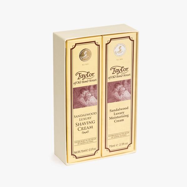 Taylor of Old Bond Street Sandalwood Shave Cream & Moisturiser Gift Set